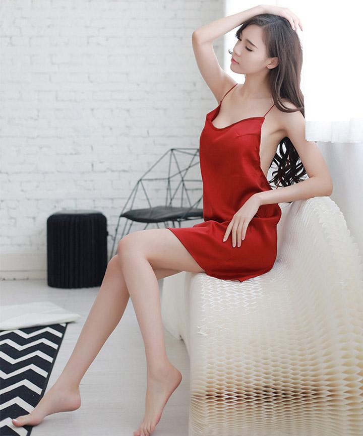 섹시 백리스 여성 슬립 원피스 홈웨어 3 color - 리빙잇템, 15,900원, 여성 이너웨어, 슬립